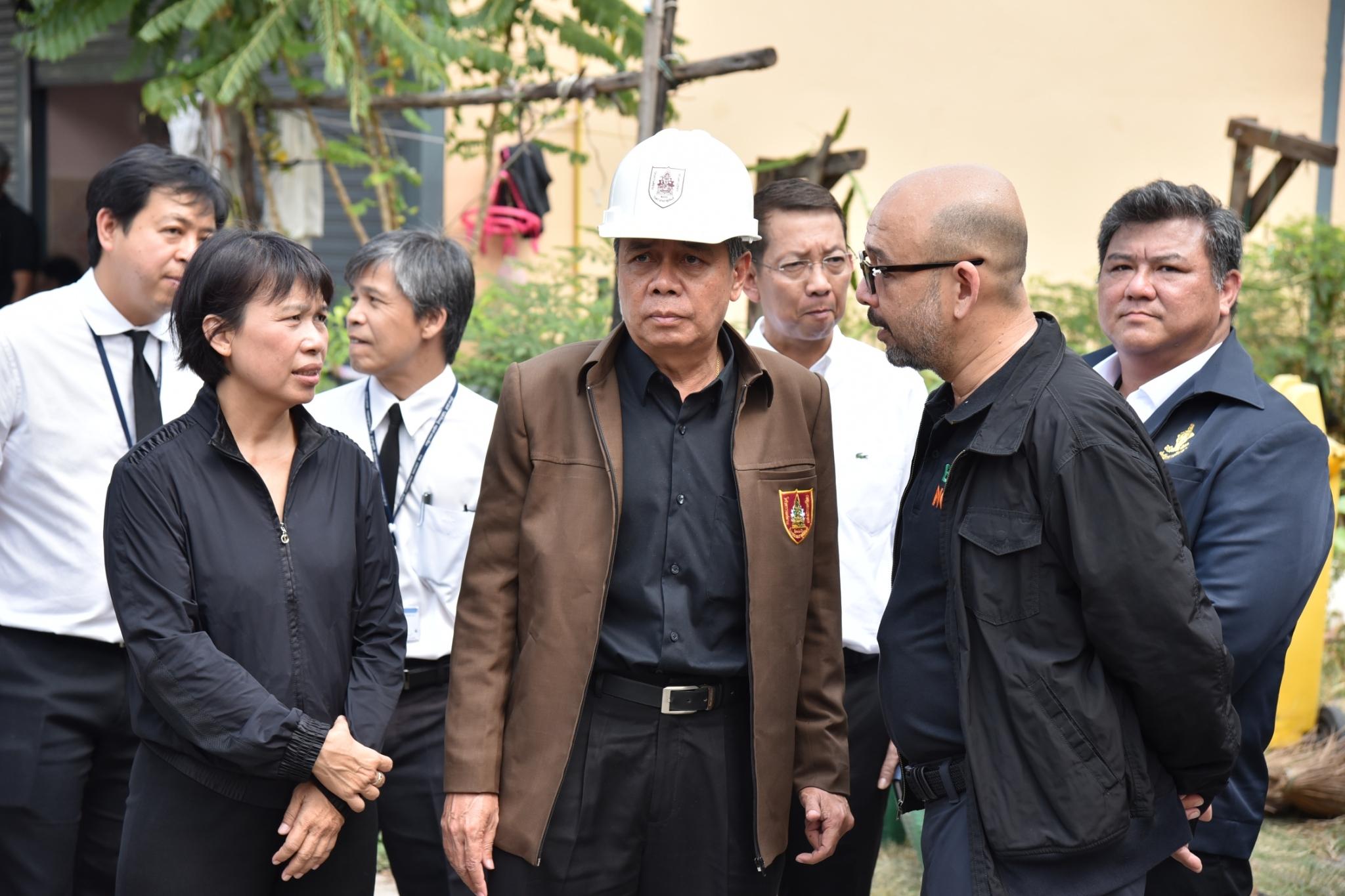 วิศวกรรมสถานแห่งประเทศไทย ในพระบรมราชูปถัมภ์  ลงพื้นที่ตรวจสอบเหตุอาคารทรุด ซอยรามคำแหง 39