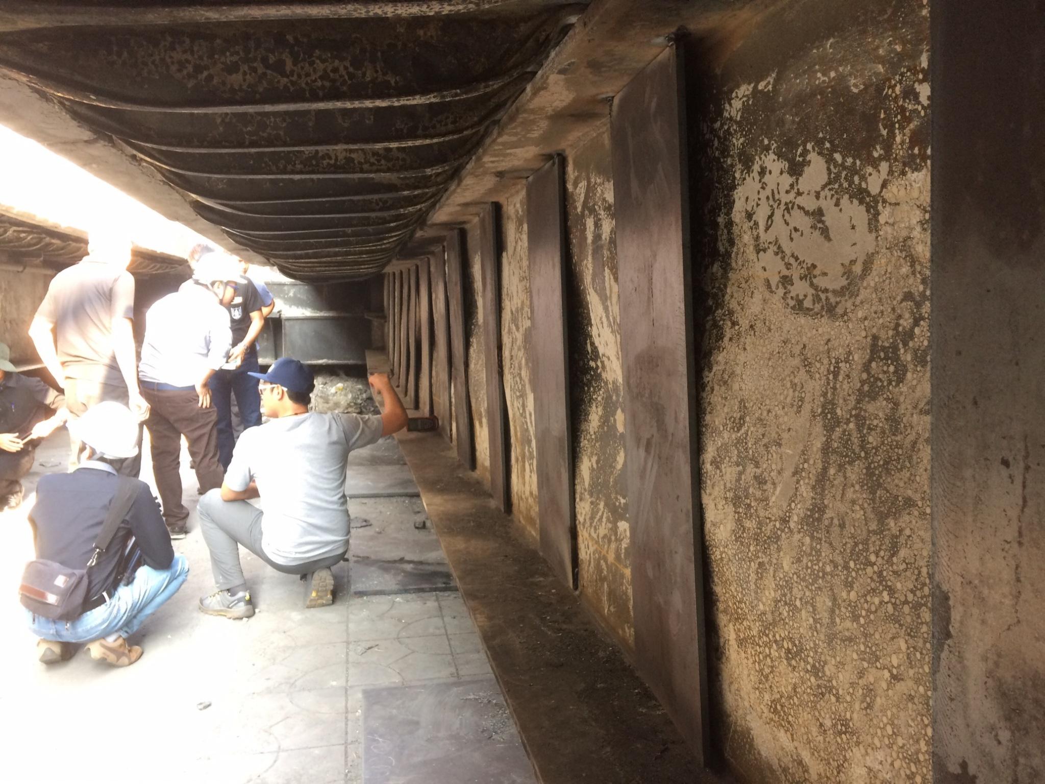 วิศวกรรมสถานแห่งประเทศไทย ในพระบรมราชูปถัมภ์ ลงพื้นที่ตรวจสอบเหตุเพลิงไหม้สะพานไทย-เบลเยี่ยม