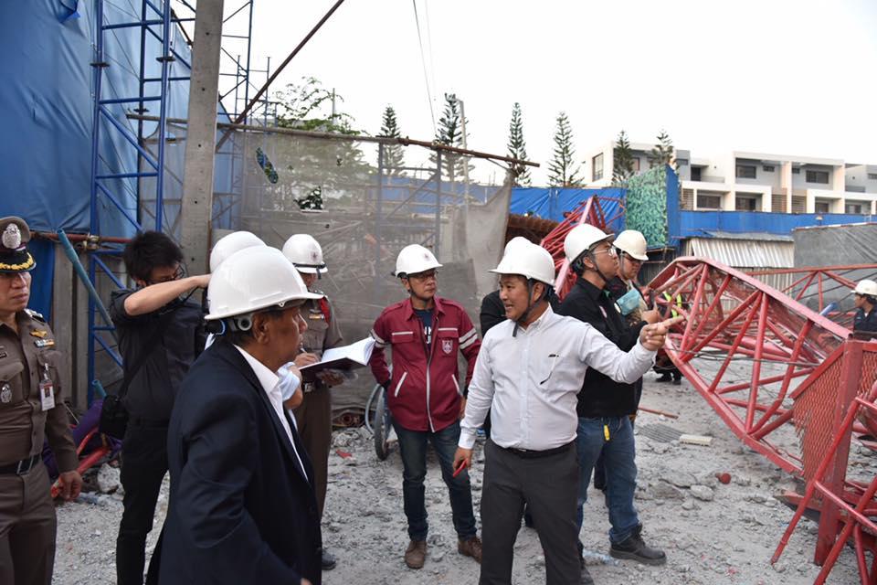 วิศวกรรมสถานแห่งประเทศไทย ในพระบรมราชูปถัมภ์ตรวจสอบกรณีเหตุเครนล้มในสถานที่ก่อสร้างคอนโดมิเนียม ซอยพระราม 3 ซอย 45 เขตยานนาวา กทม.