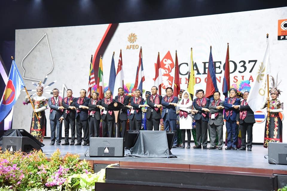 พิธีเปิดงาน CAFEO ครั้งที่ 37 ณ กรุงจาการ์ตาประเทศอินโดนีเซีย