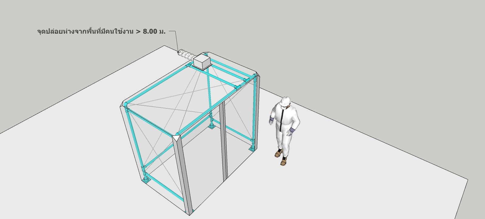 ห้องแยกการติดเชื้อทางอากาศความดันลบ EIT-01-1/24032020 (Airborne Inflection Isolation Room หรือ AIIR)