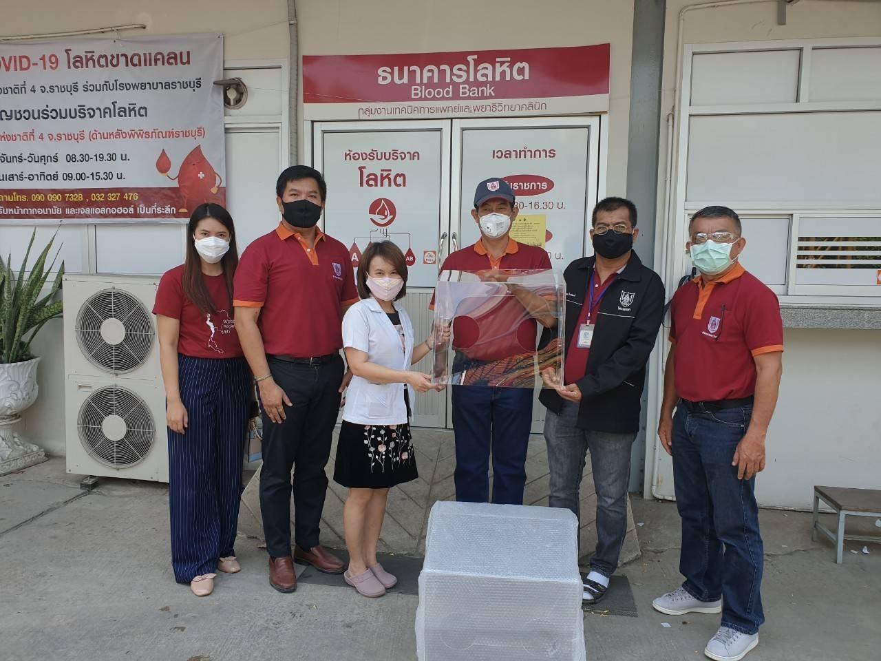 วิศวกรรมสถานแห่งประเทศไทยฯ สาขาภาคตะวันตก นำกล่อง AEROSOL BOX ไปมอบให้กับทีมแพทย์