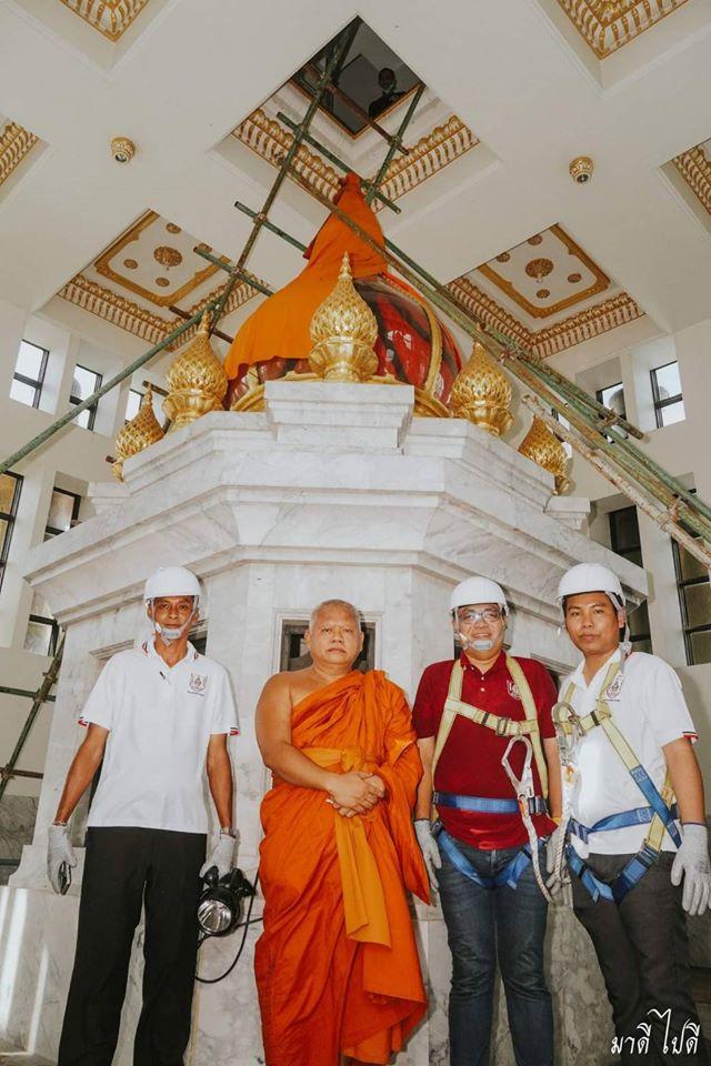 วิศวกรรมสถานแห่งประเทศไทยฯ สาขาภาคตะวันออก เข้าสำรวจโครงสร้างพระอุโบสถหลังใหม่หลวงพ่อโสธร ชั้น9-13 วัดโสธรวรารามวรวิหาร