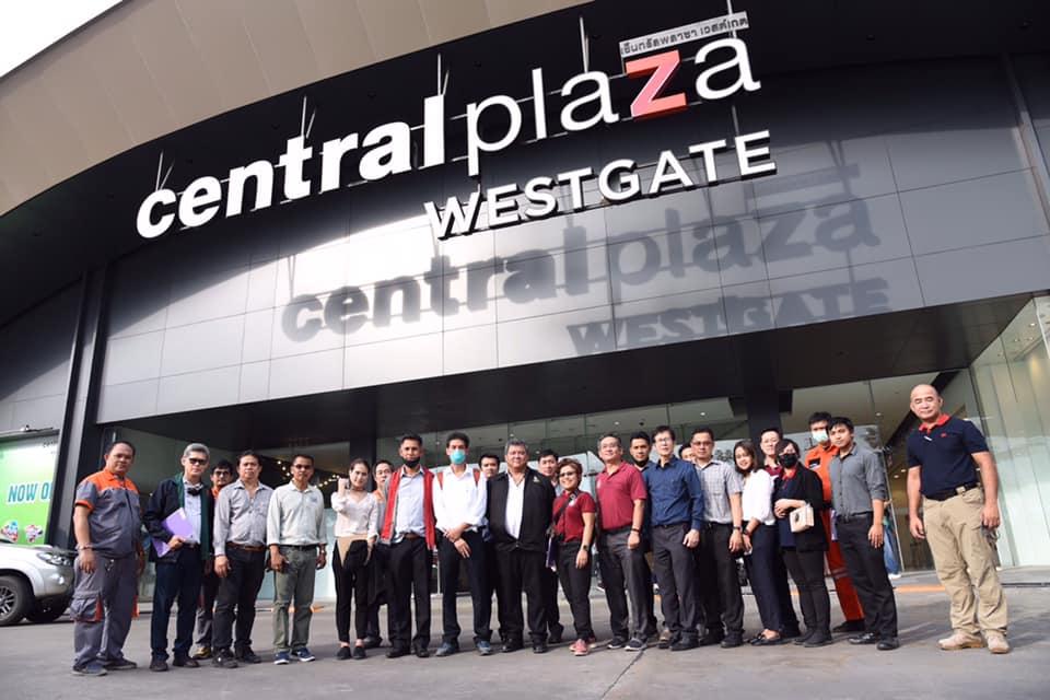 คณะกรรมการโครงการ ASEAN Building Fire Safety Awards 2020 ในคณะกรรมการต่างประเทศ วิศวกรรมสถานแห่งประเทศไทยฯ เข้าตรวจอาคารที่ผ่านการคัดเลือกรอบแรก โดยเข้าตรวจอาคารศูนย์การค้า Central Westgate