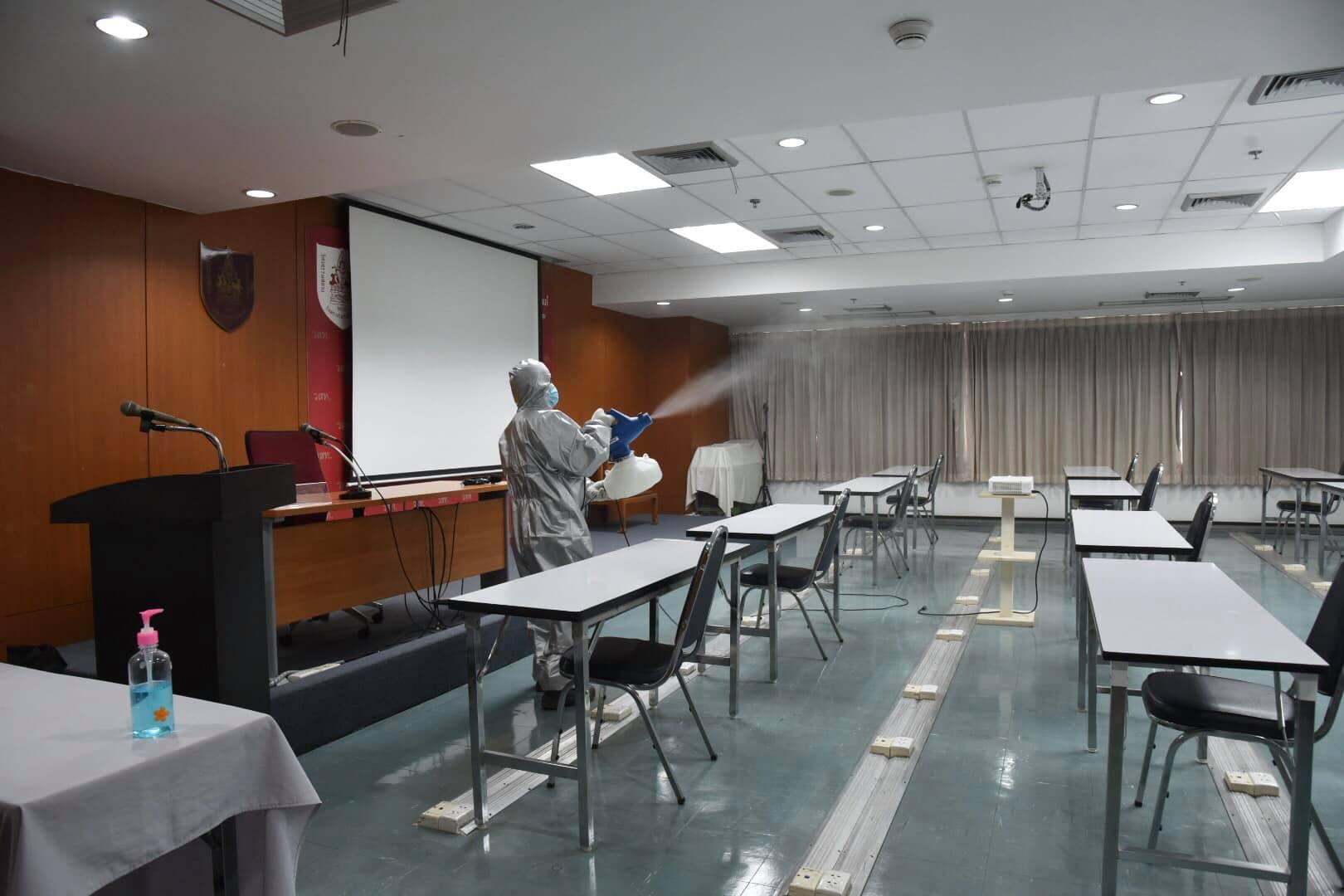 มาตรการป้องกันการแพร่ระบาดเชื้อไวรัส COVID-19 ของวิศวกรรมสถานแห่งประเทศไทย ในพระบรมราชูปถัมภ์