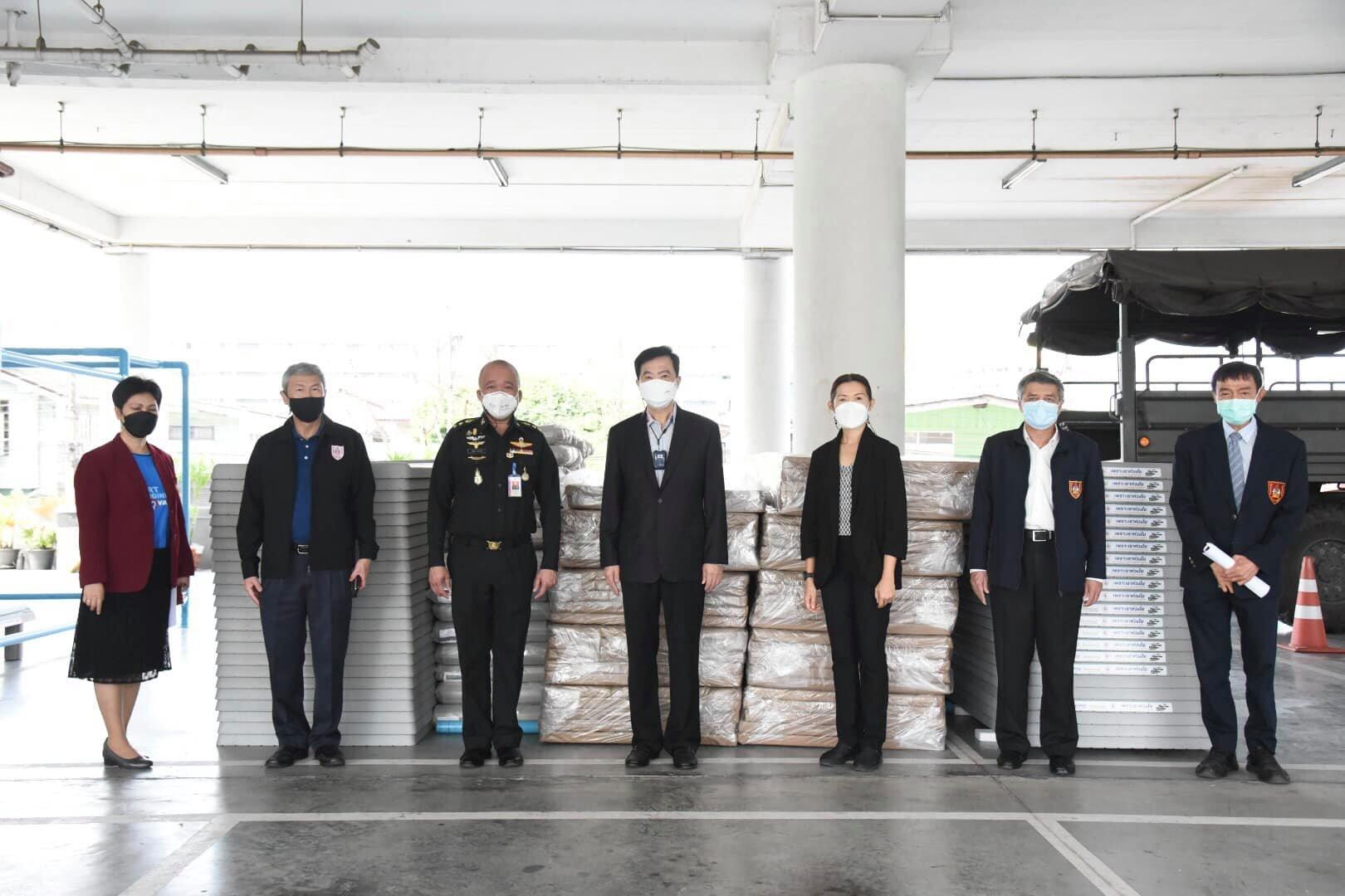 วิศวกรรมสถานแห่งประเทศไทย ในพระบรมราชูปถัมภ์ รับบริจาคเตียงสนาม Aeroklas พร้อมชุดเครื่องนอน จำนวน 50 ชุด